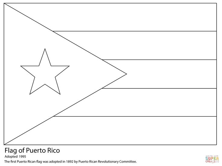 puerto rico flag to color puerto rico flag coloring page free printable coloring puerto rico to color flag