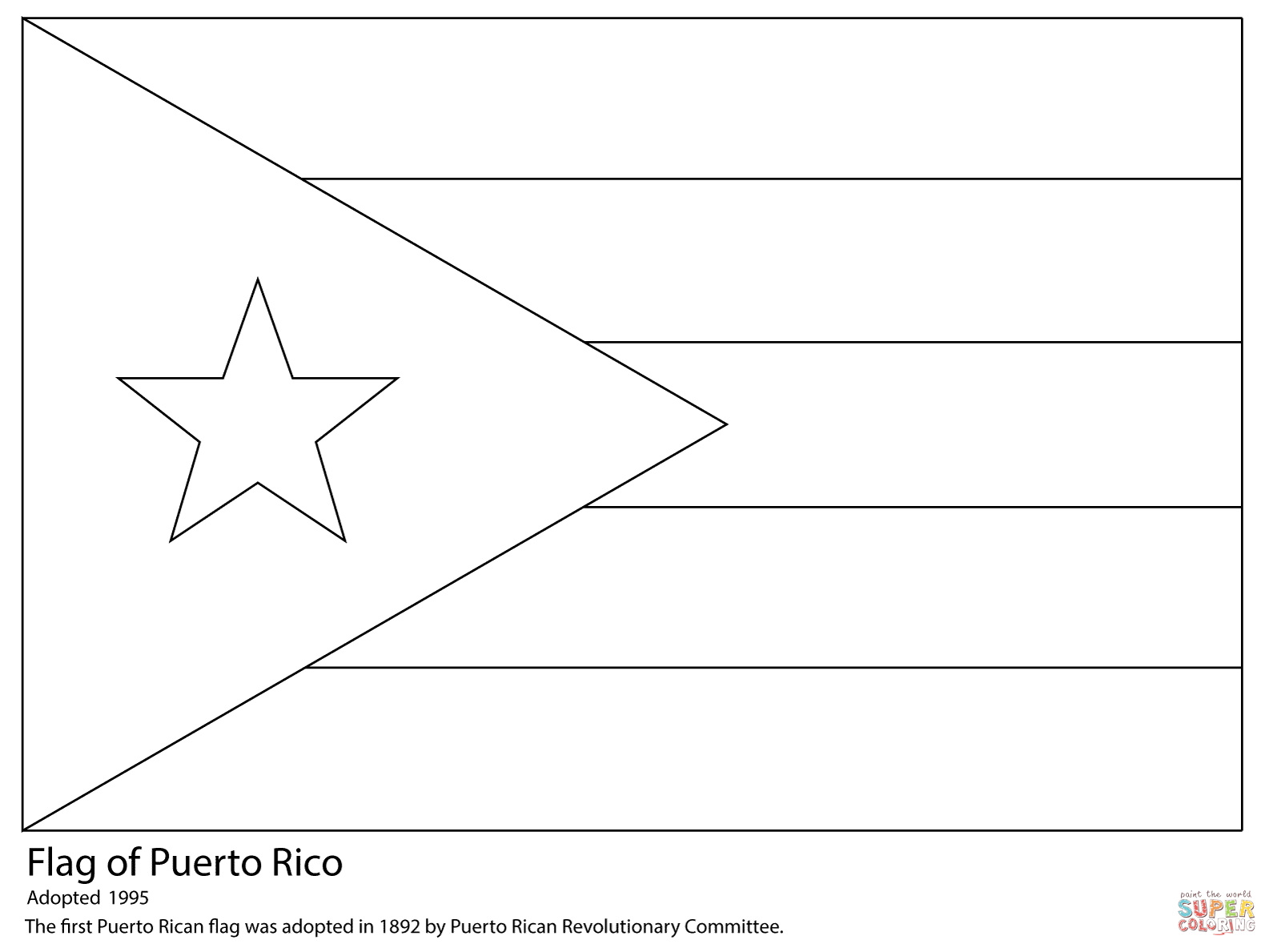 puerto rico flag to color puerto rico flag coloring page supercoloringcom rico flag puerto color to
