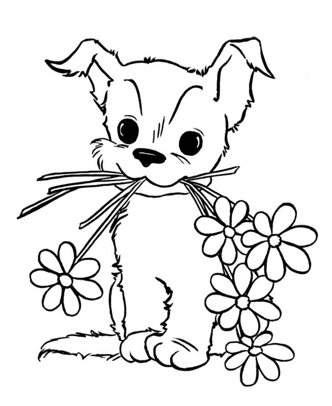 puppy pictures for coloring free printable puppies coloring pages for kids coloring puppy pictures for 1 1