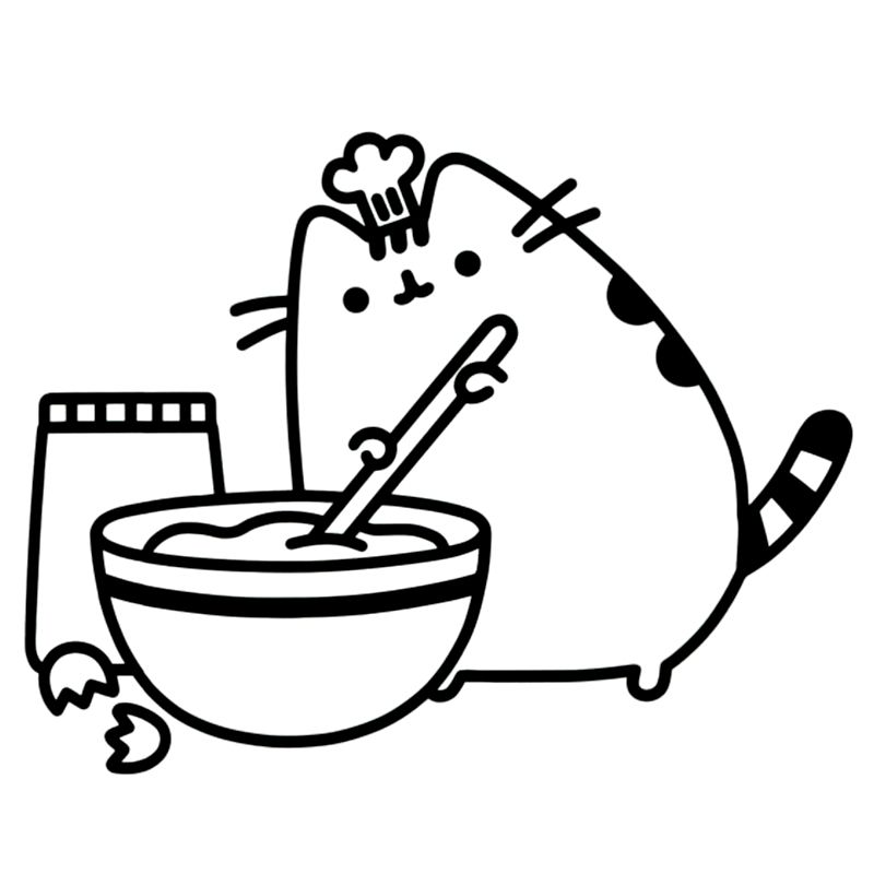 pusheen the cat coloring pages pusheen cats coloring page by moriahkesingerarts on etsy pusheen coloring cat the pages