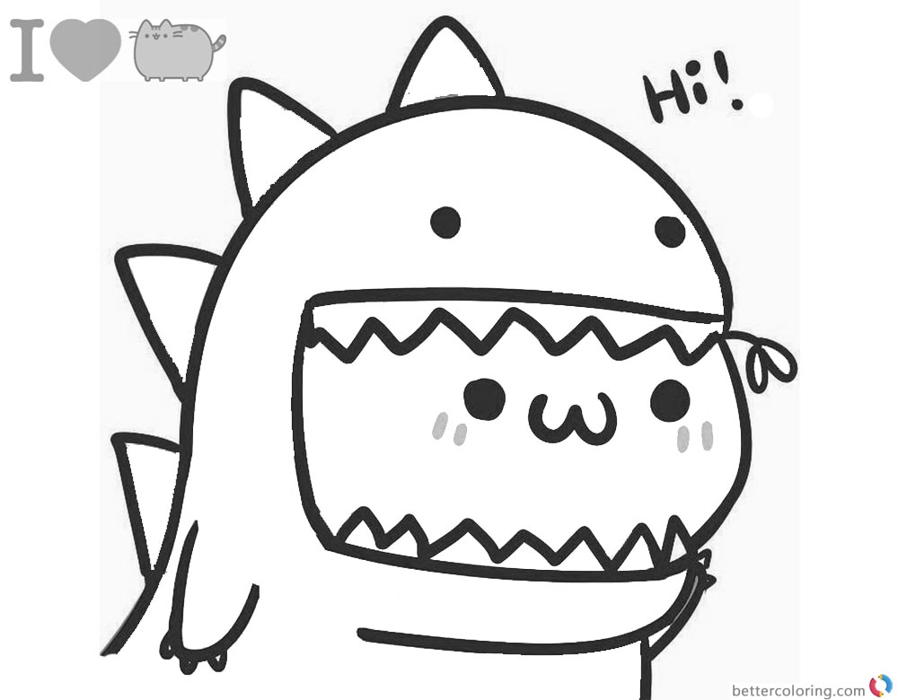 pusheen the cat coloring pages pusheen coloring pages print them online for free the coloring cat pages pusheen