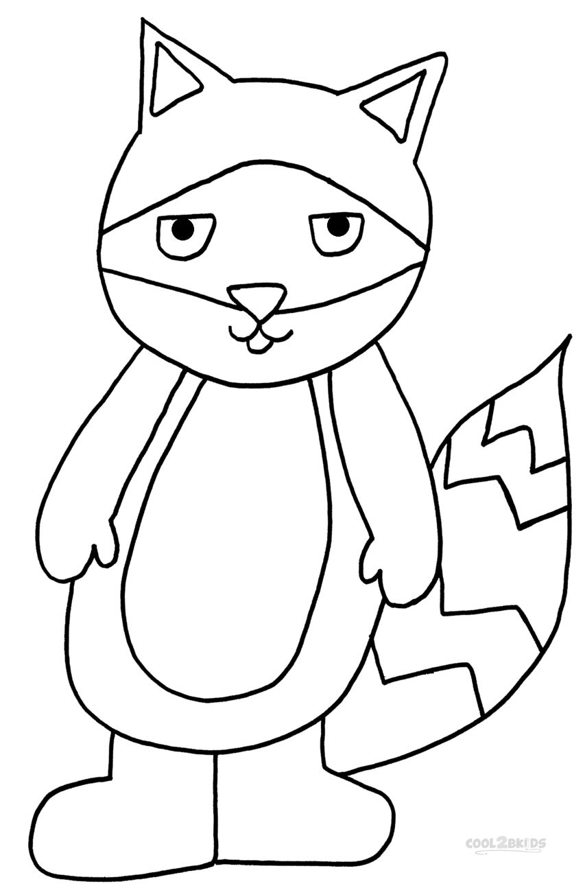 raccoon coloring pictures printable raccoon coloring pages for kids cool2bkids coloring raccoon pictures 1 2