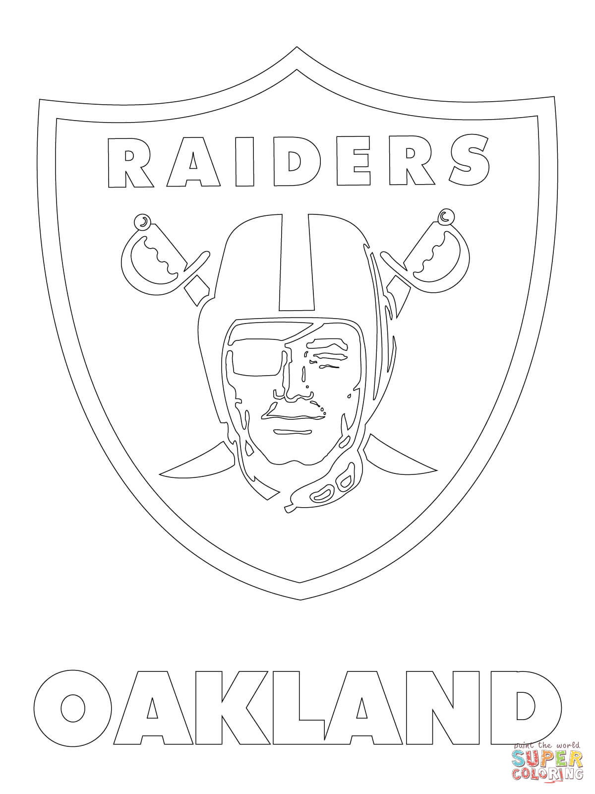 raiders coloring pages oakland raiders from nfl coloring sheet raiders pages coloring