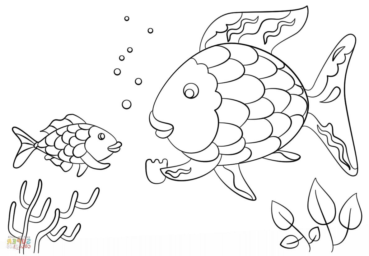 rainbow fish coloring page template free rainbow fish template download free clip art free coloring rainbow page fish template