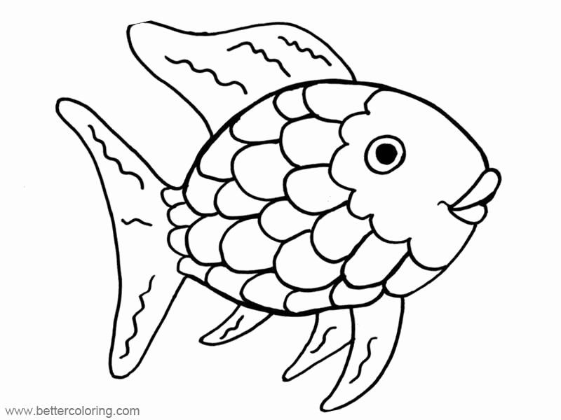 rainbow fish coloring page template free rainbow fish template pdf 2 pages page 2 coloring rainbow fish template page