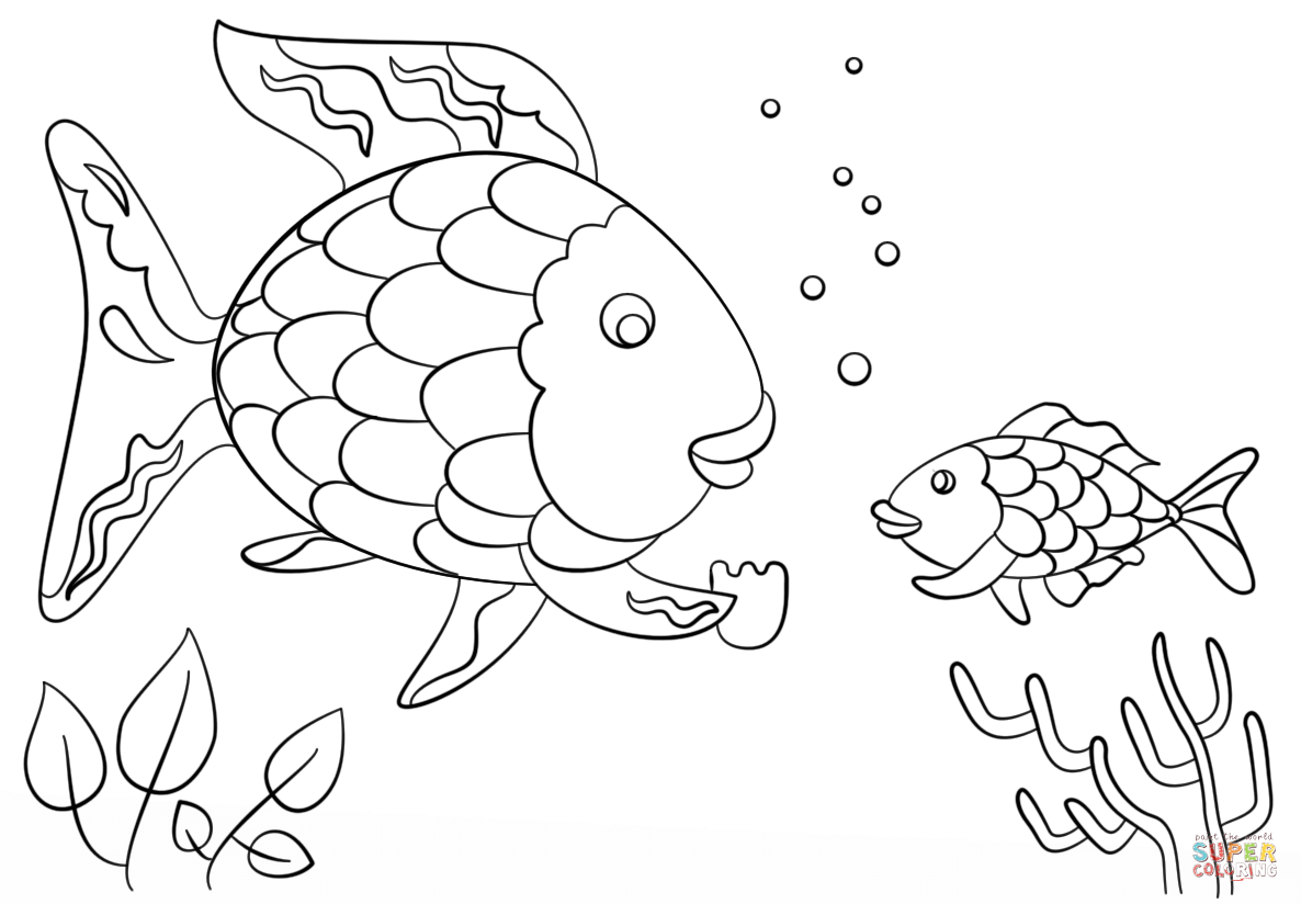rainbow fish coloring page template rainbow fish coloring page awesome rainbow fish coloring template page fish rainbow coloring