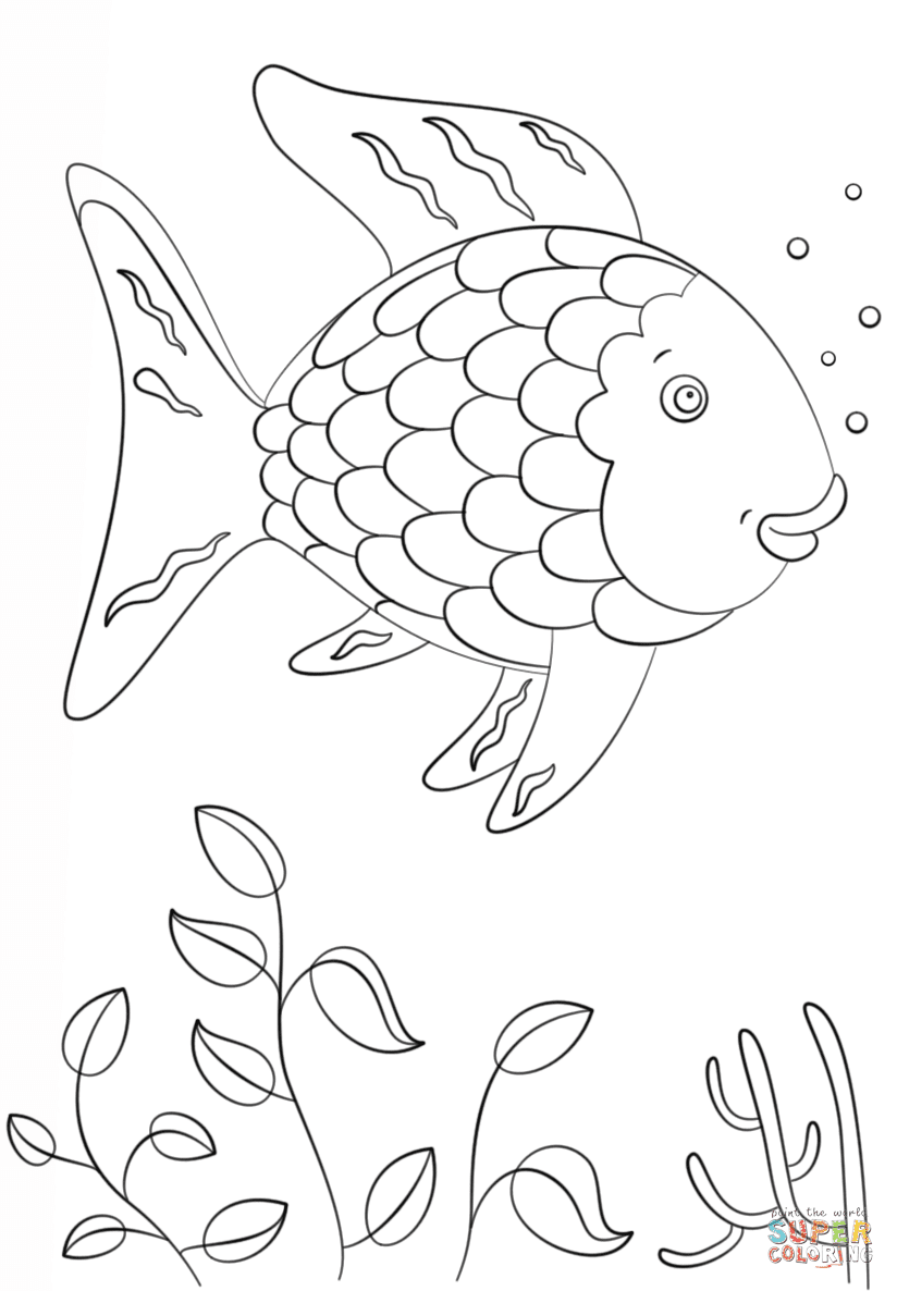 rainbow fish coloring page template rainbow fish printable coloring page coloring home page fish coloring rainbow template