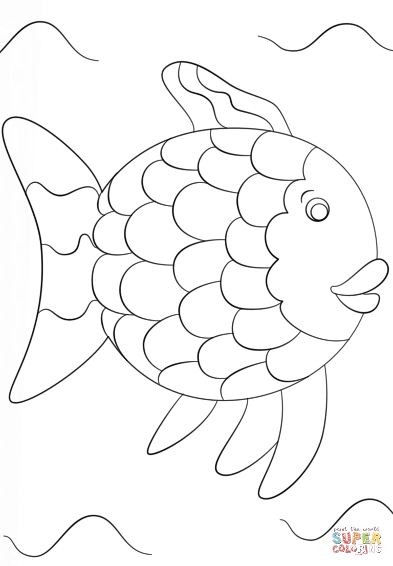 rainbow fish coloring page template rainbow fish template coloring home fish rainbow coloring template page