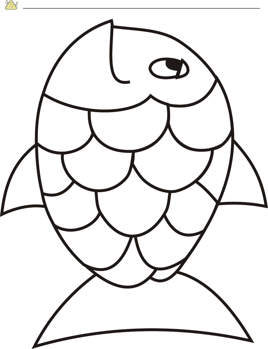 rainbow fish coloring page template rainbow fish template coloring page free printable template page rainbow fish coloring