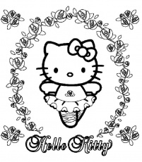 rainbow hello kitty coloring pages hello kitty coloring pages hello kitty snow angel hello pages coloring rainbow kitty