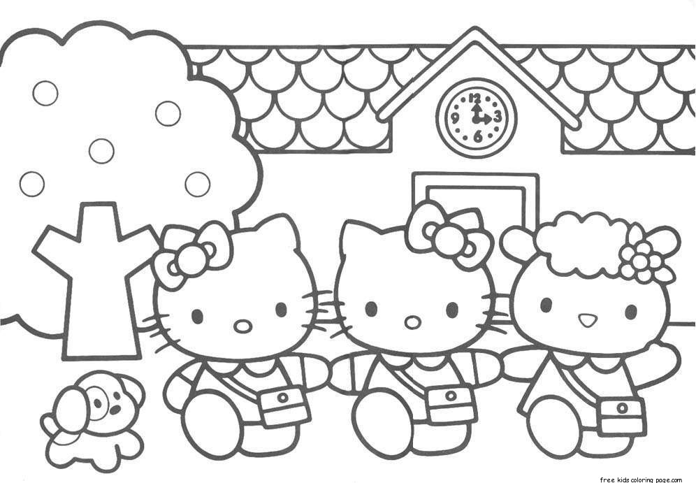 rainbow hello kitty coloring pages print out hello kitty friends printabel coloring pagesfree rainbow coloring pages kitty hello