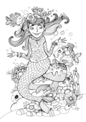 rainbow mermaid coloring pages beautiful mermaid barbie coloring pages youloveitcom coloring rainbow pages mermaid
