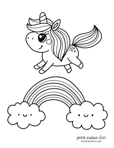 rainbow mermaid coloring pages cute unicorn on a rainbow in 2020 unicorn coloring pages mermaid rainbow pages coloring