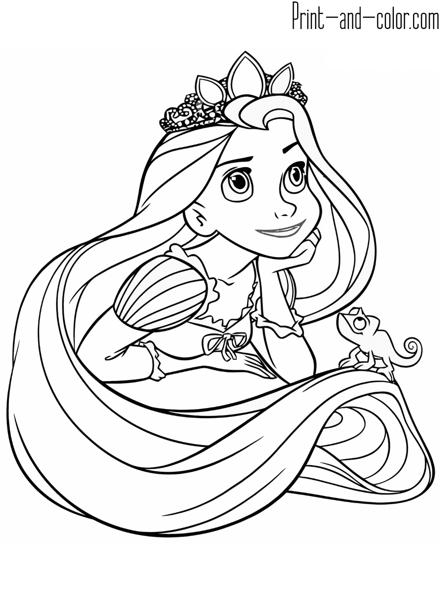 rapunzel coloring sheet rapunzel coloring pages to download and print for free coloring rapunzel sheet