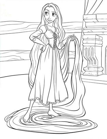 rapunzel print out free print your own rapunzel coloring page would be out print rapunzel