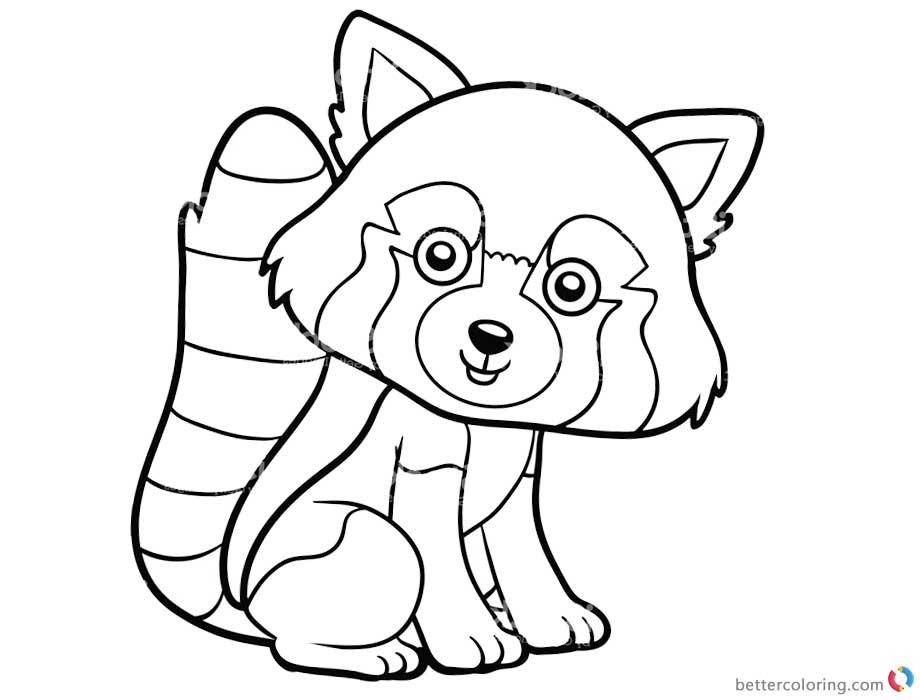 red panda coloring sheet coloring pages little cute red panda in the forest stock coloring sheet panda red