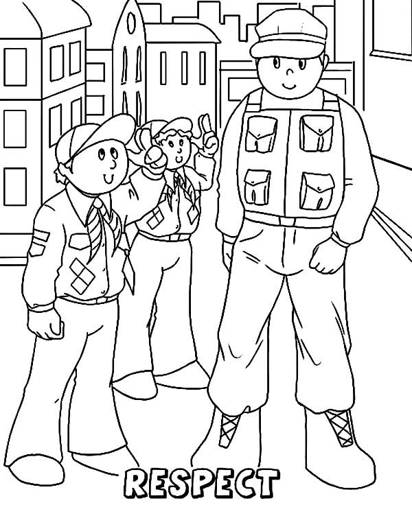 respect coloring pages cub scout respect coloring page respect coloring pages