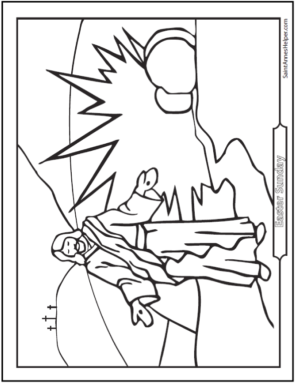 resurrection of jesus coloring pages jesus resurrection drawing at getdrawings free download pages of coloring jesus resurrection