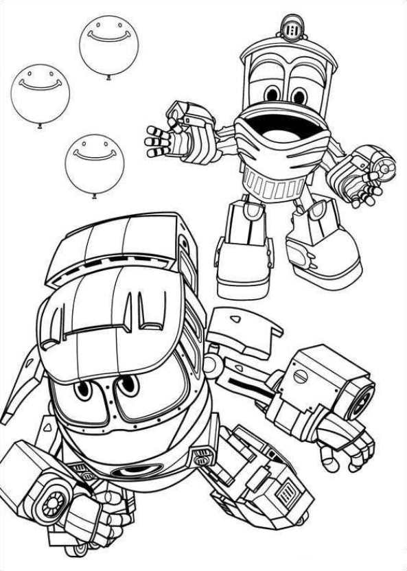 robot train coloring pages robot train selly train coloring pages cartoon coloring robot train pages coloring