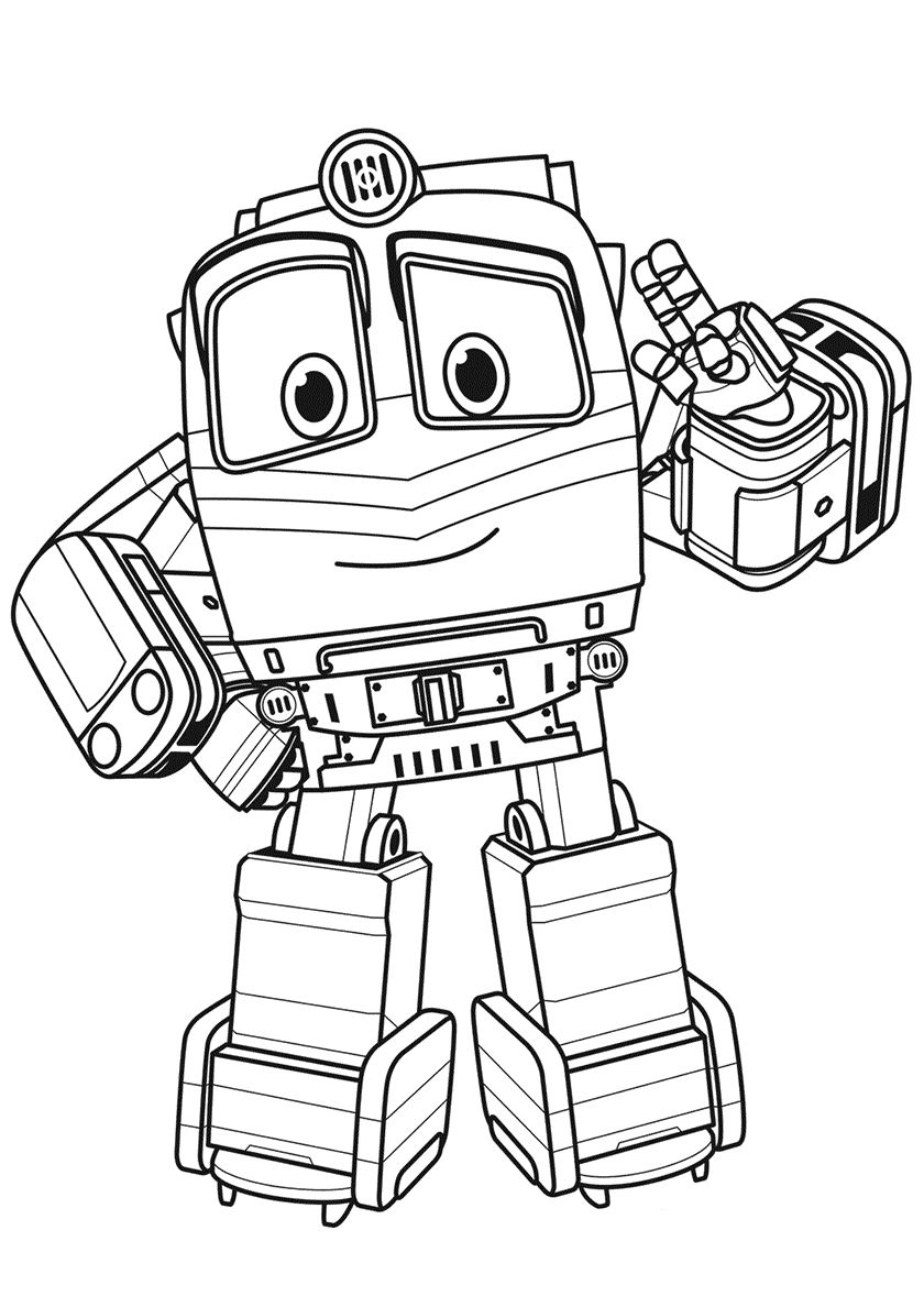 robot train coloring pages victor from robot trains coloring page pages coloring robot train
