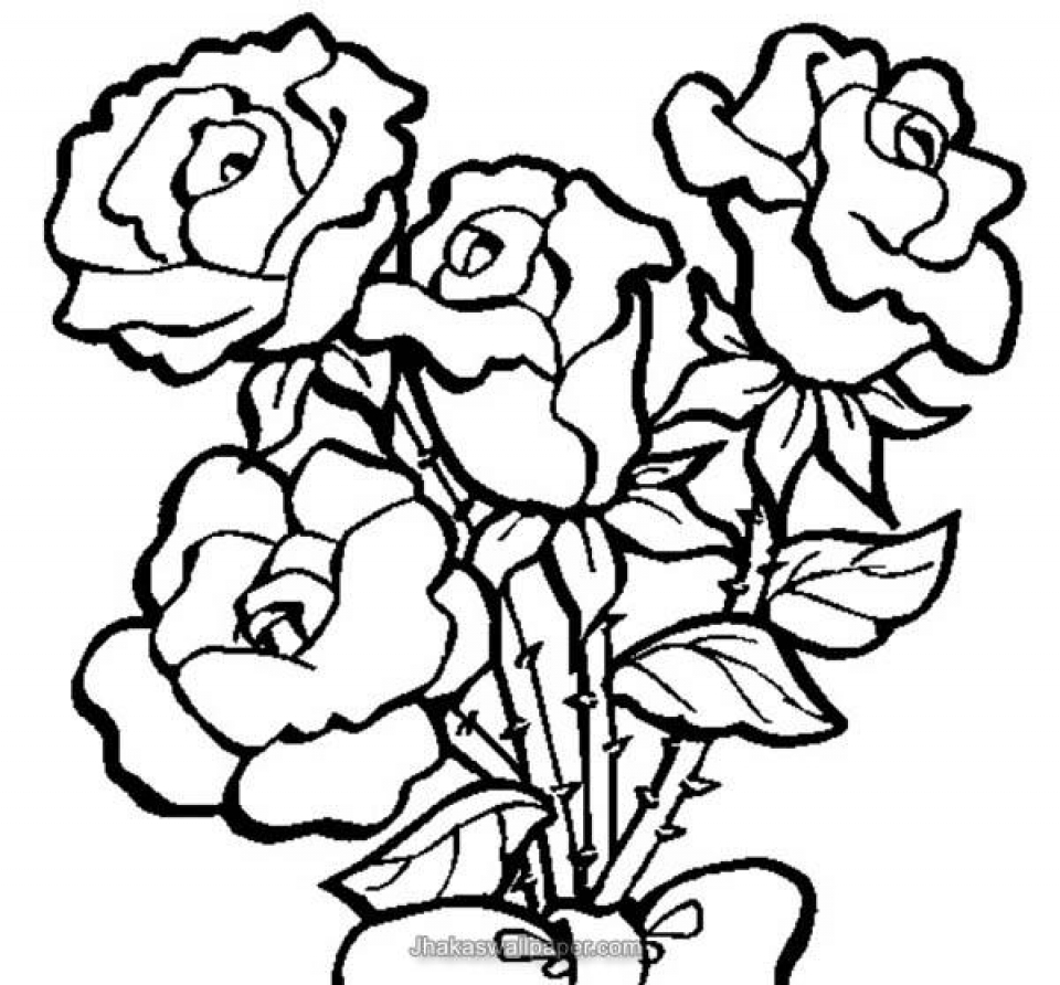 rose for coloring get this online roses coloring pages for adults 88275 coloring for rose