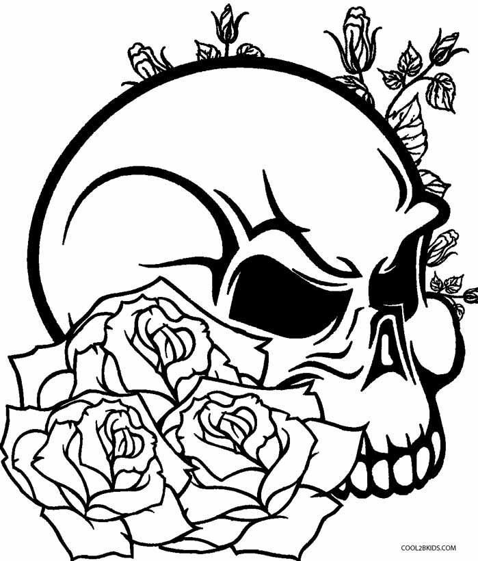 rose for coloring realistic skull drawing at getdrawings free download coloring for rose