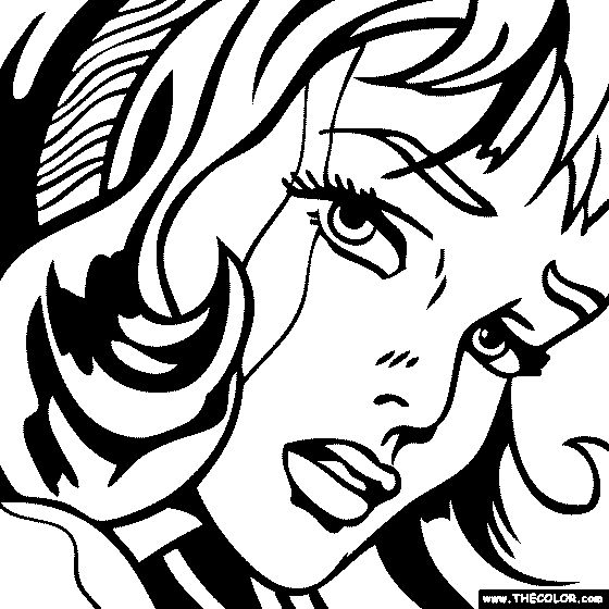 roy lichtenstein coloring pages roy lichtenstein coloring pages sketch coloring page lichtenstein roy pages coloring