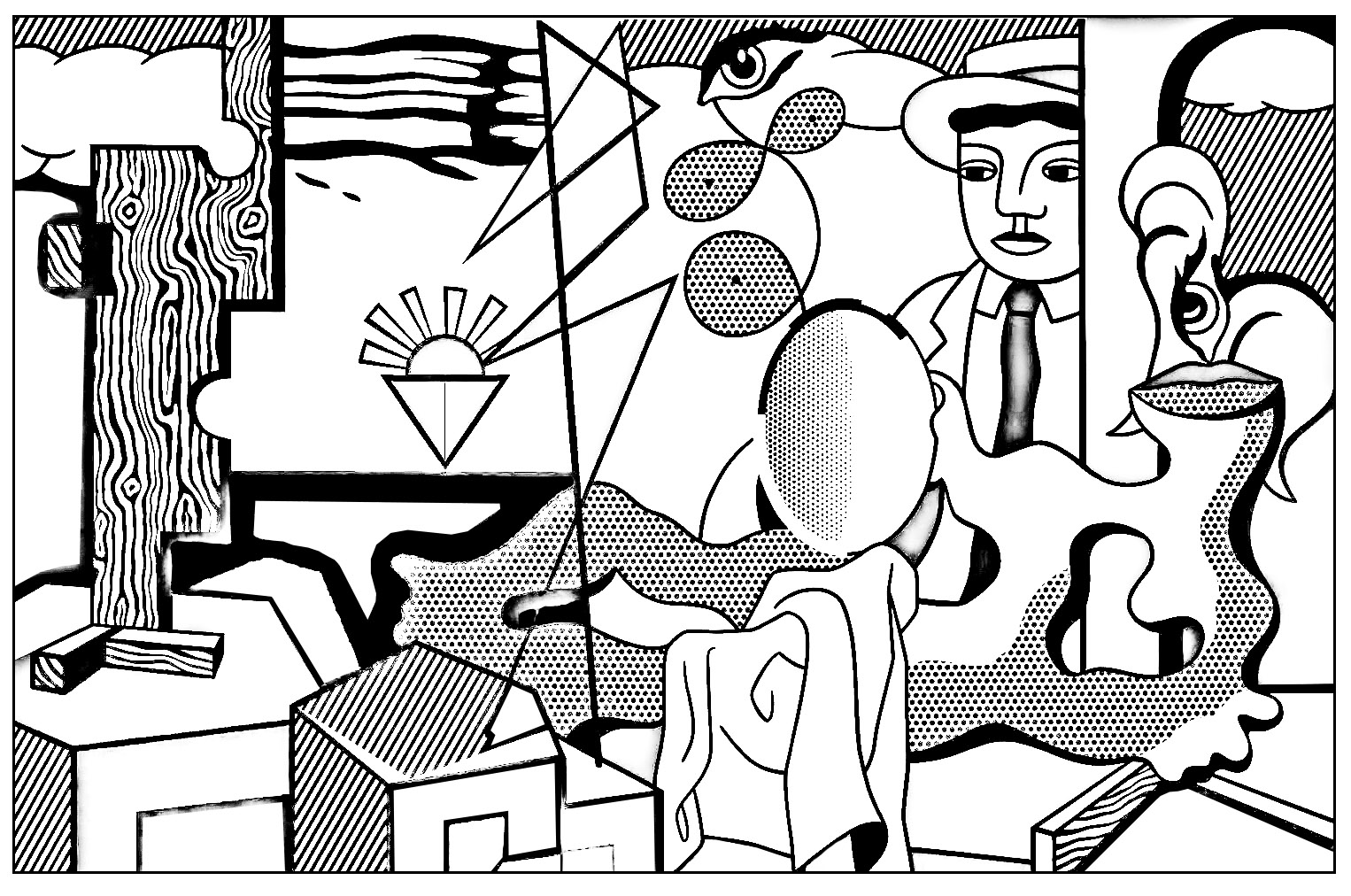 roy lichtenstein coloring pages roy lichtenstein pop art coloring pages sketch coloring page roy pages coloring lichtenstein