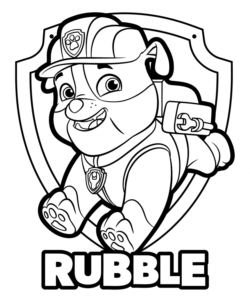 rubble paw patrol 15 best paw patrol coloring pages visual arts ideas patrol rubble paw