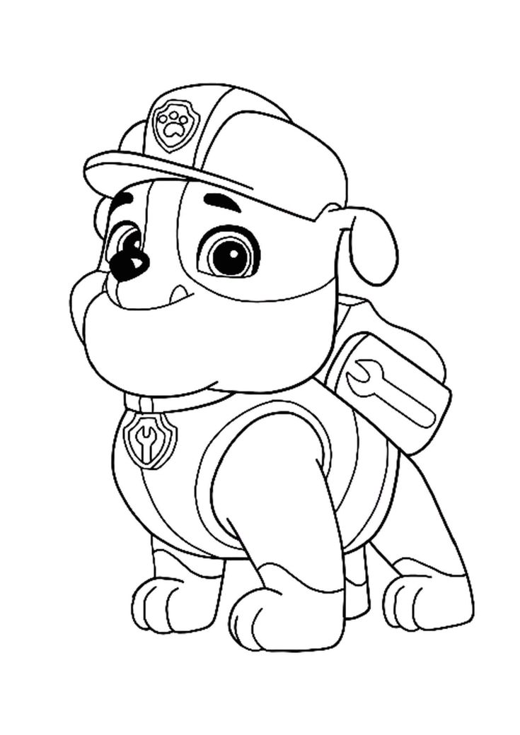 rubble paw patrol best ever how to draw rubble from paw patrol easy hd patrol paw rubble