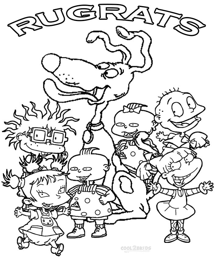 rugrats coloring pages free printable rugrats coloring pages for kids coloring home coloring rugrats pages
