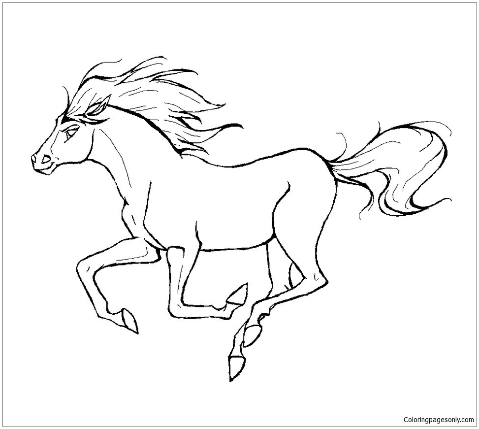 running horse coloring pages running horse coloring page free coloring pages online coloring running pages horse