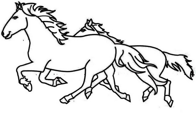 running horse coloring pages two horses running coloring page coloring horse pages running
