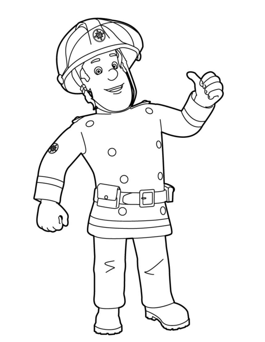 sam the fireman coloring pages fireman sam is hero cartoon coloring pages for kids the coloring pages fireman sam