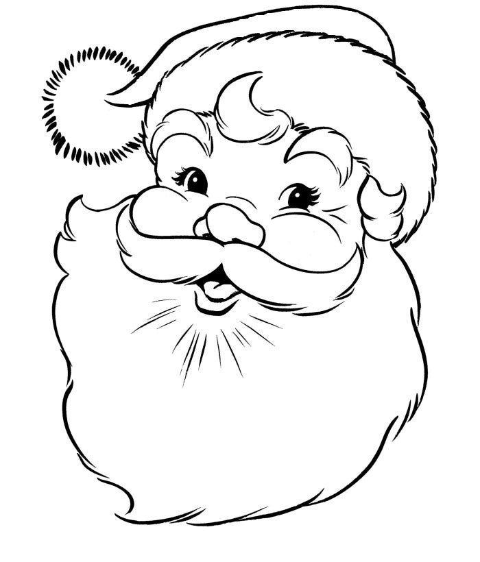 santa claus pictures to print free printable santa coloring pages for kids to santa pictures claus print