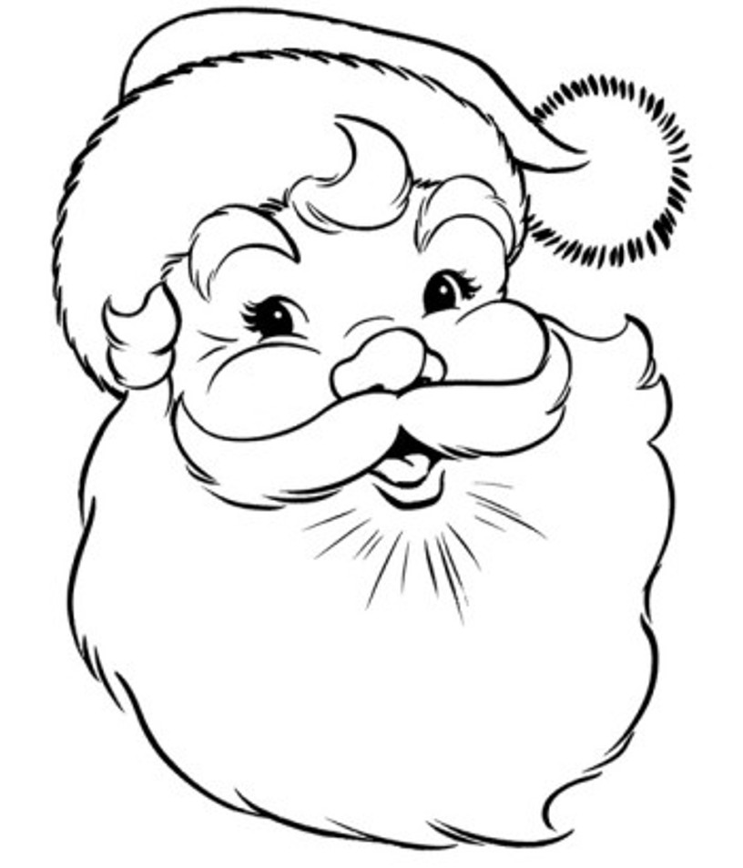 santa claus pictures to print santa claus head coloring page printable coloring pages santa print pictures to claus