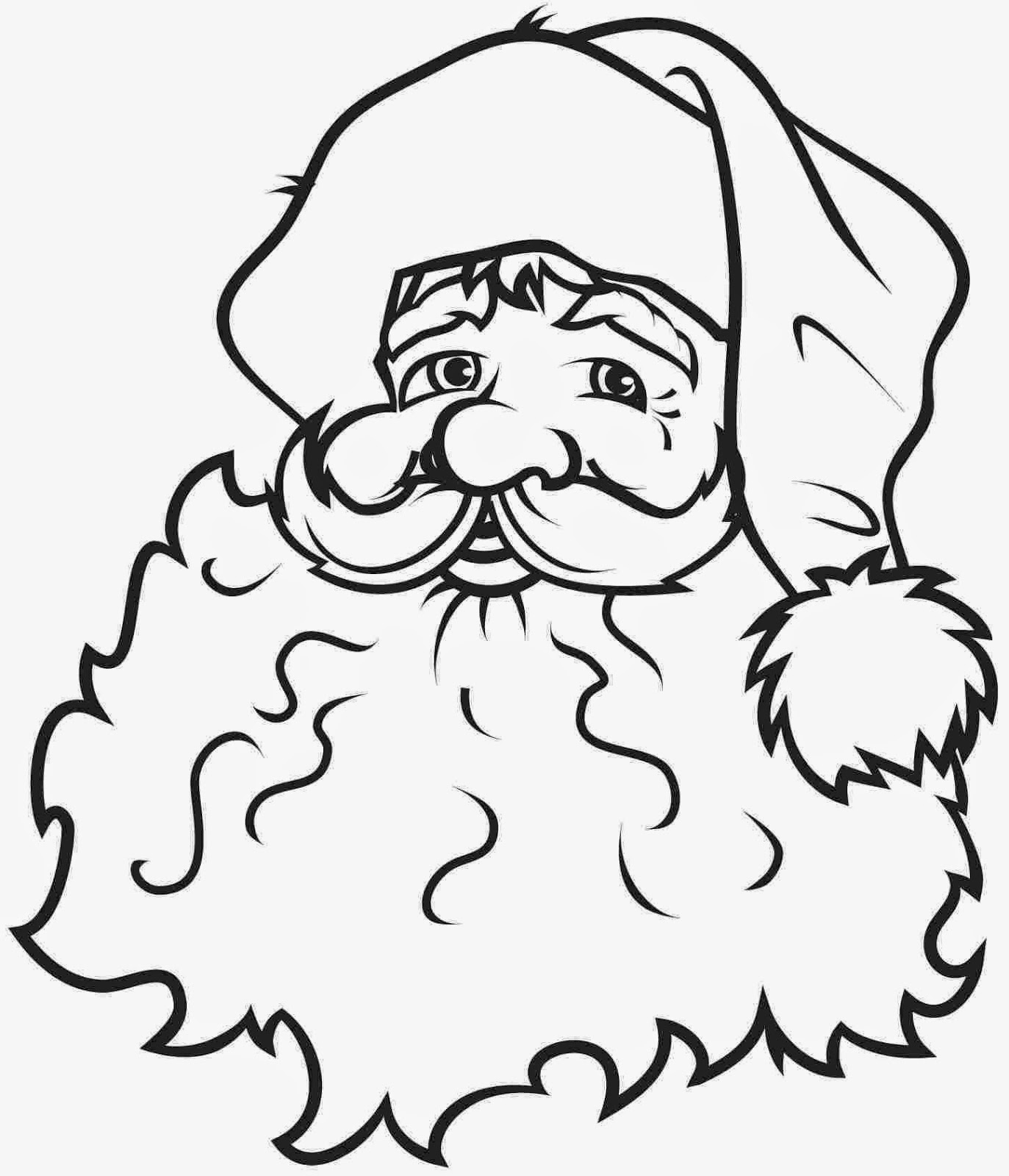 santa claus pictures to print santa claus head coloring pages gtgt disney coloring pages pictures santa claus to print