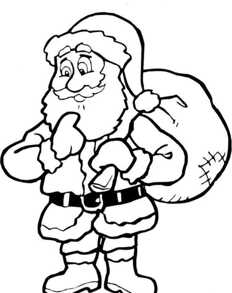 santa claus pictures to print santa claus with gifts coloring pages for kids printable to print claus pictures santa