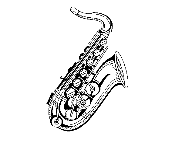 saxophone coloring pages a saxophone coloring page coloringcrewcom coloring pages saxophone