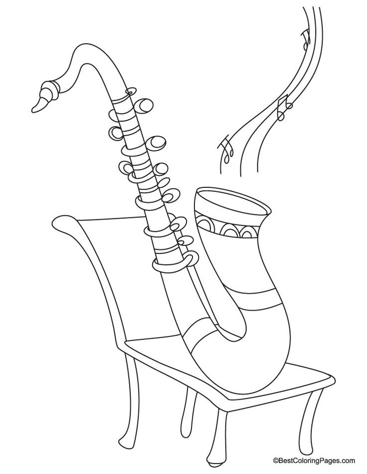 saxophone coloring pages saxophone coloring page adult coloring book pages saxophone coloring pages