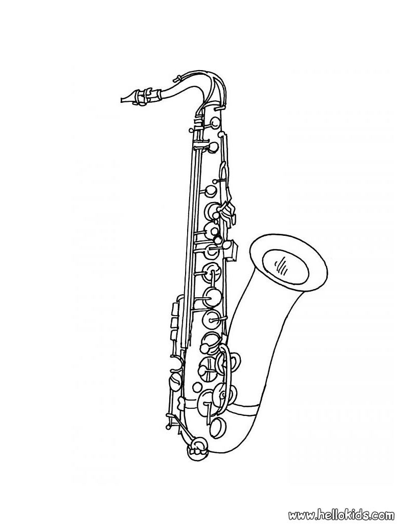 saxophone coloring pages saxophone coloring pages kidsuki saxophone pages coloring