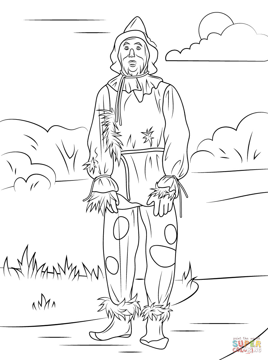 scarecrow coloring pages free printable scarecrow coloring pages at getcolorings coloring scarecrow pages
