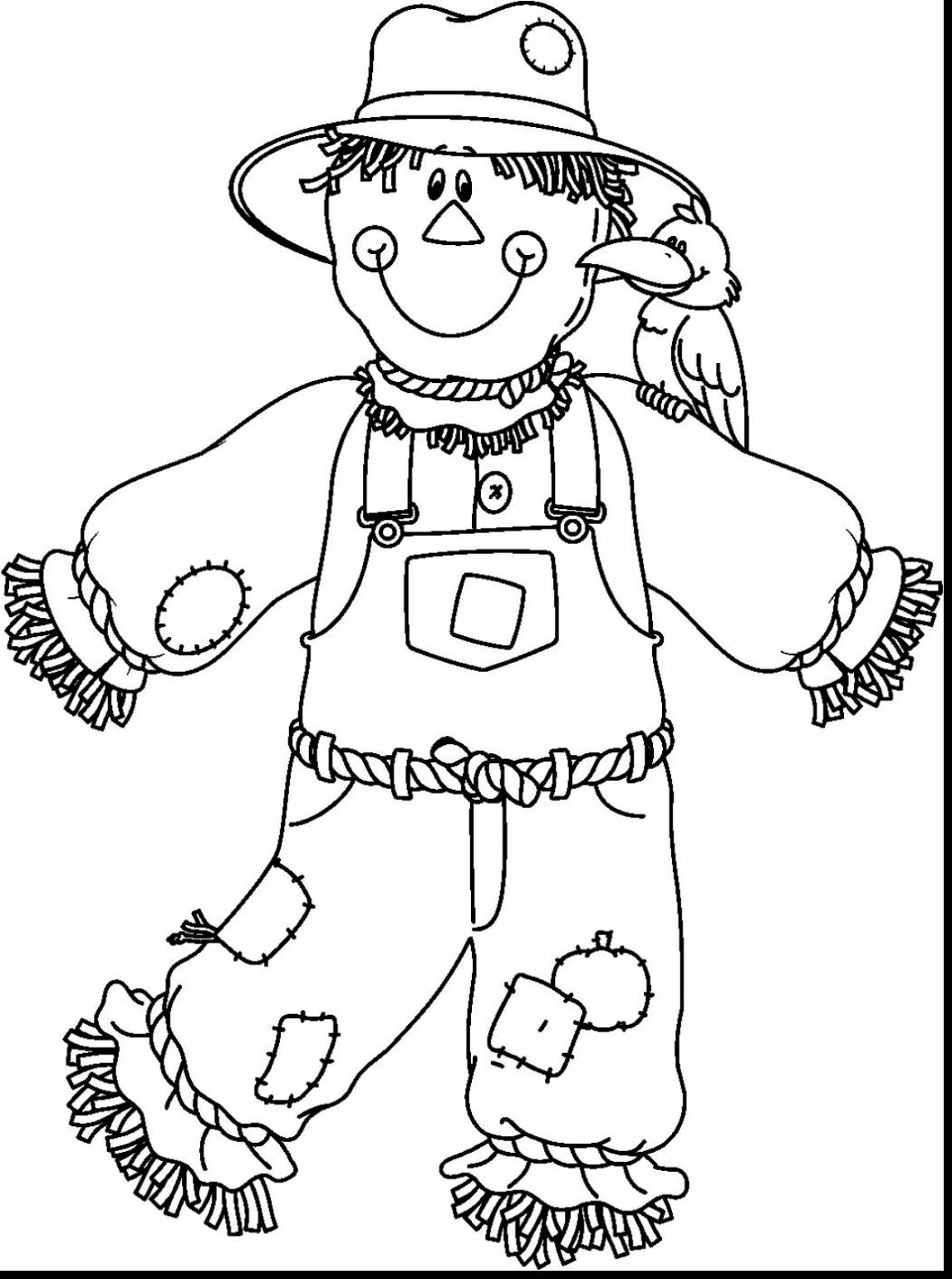 scarecrow coloring pages free printable scarecrow coloring pages at getcolorings scarecrow pages coloring
