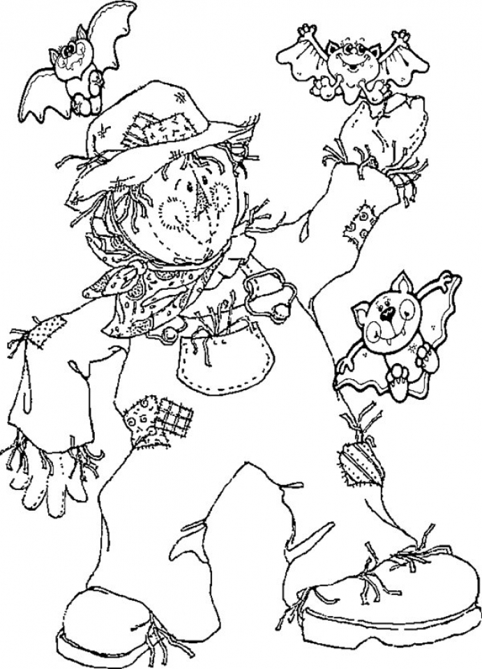 scarecrow coloring pages get this image of scarecrow coloring pages to print for coloring scarecrow pages