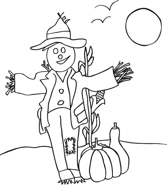 scarecrow coloring pages printable fall coloring pages imom coloring scarecrow pages