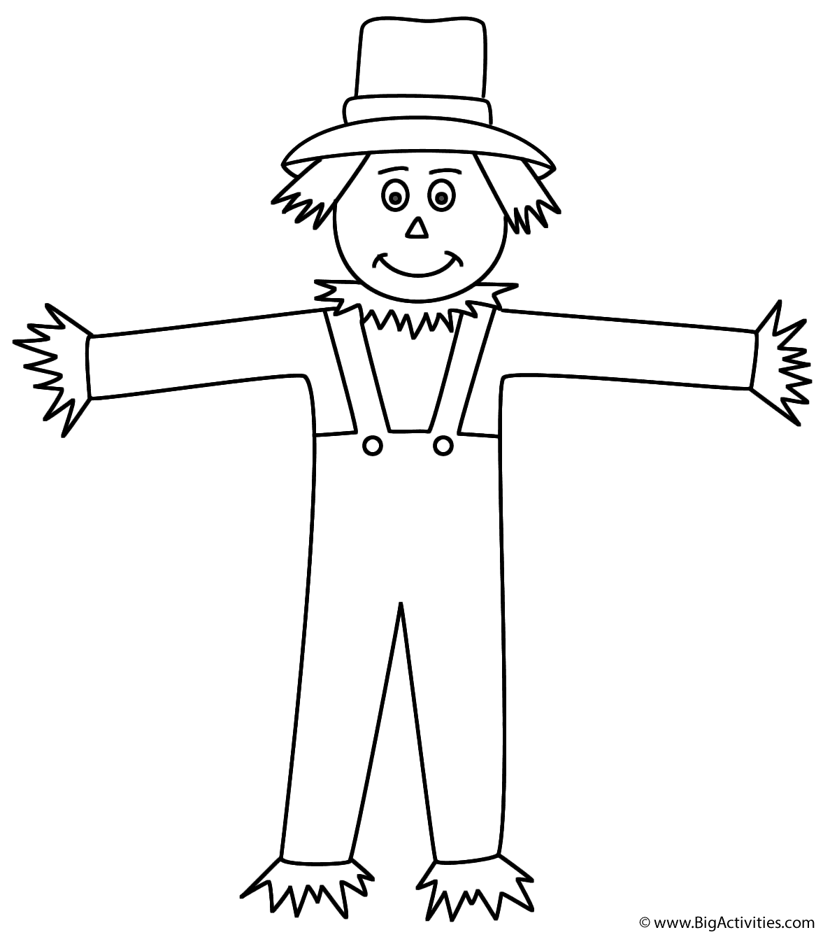 scarecrow coloring pages scarecrow coloring page autumnfall pages coloring scarecrow