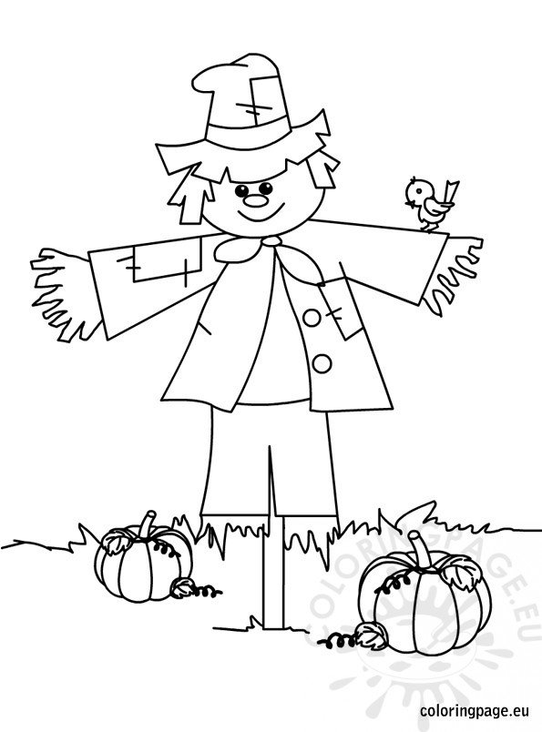 scarecrow coloring pages scarecrow coloring page coloring page coloring scarecrow pages