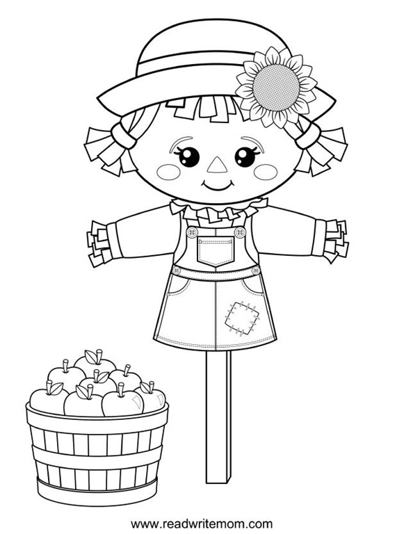 scarecrow coloring pages scarecrow head coloring pages at getcoloringscom free coloring scarecrow pages