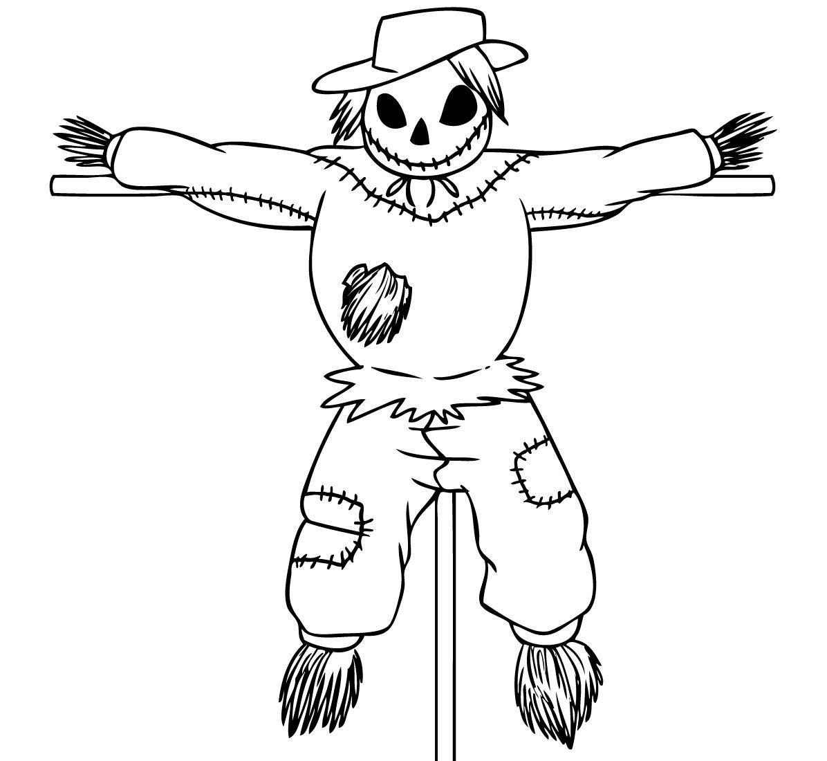 scarecrow coloring pages scary scarecrow coloring pages vingel coloring scarecrow pages