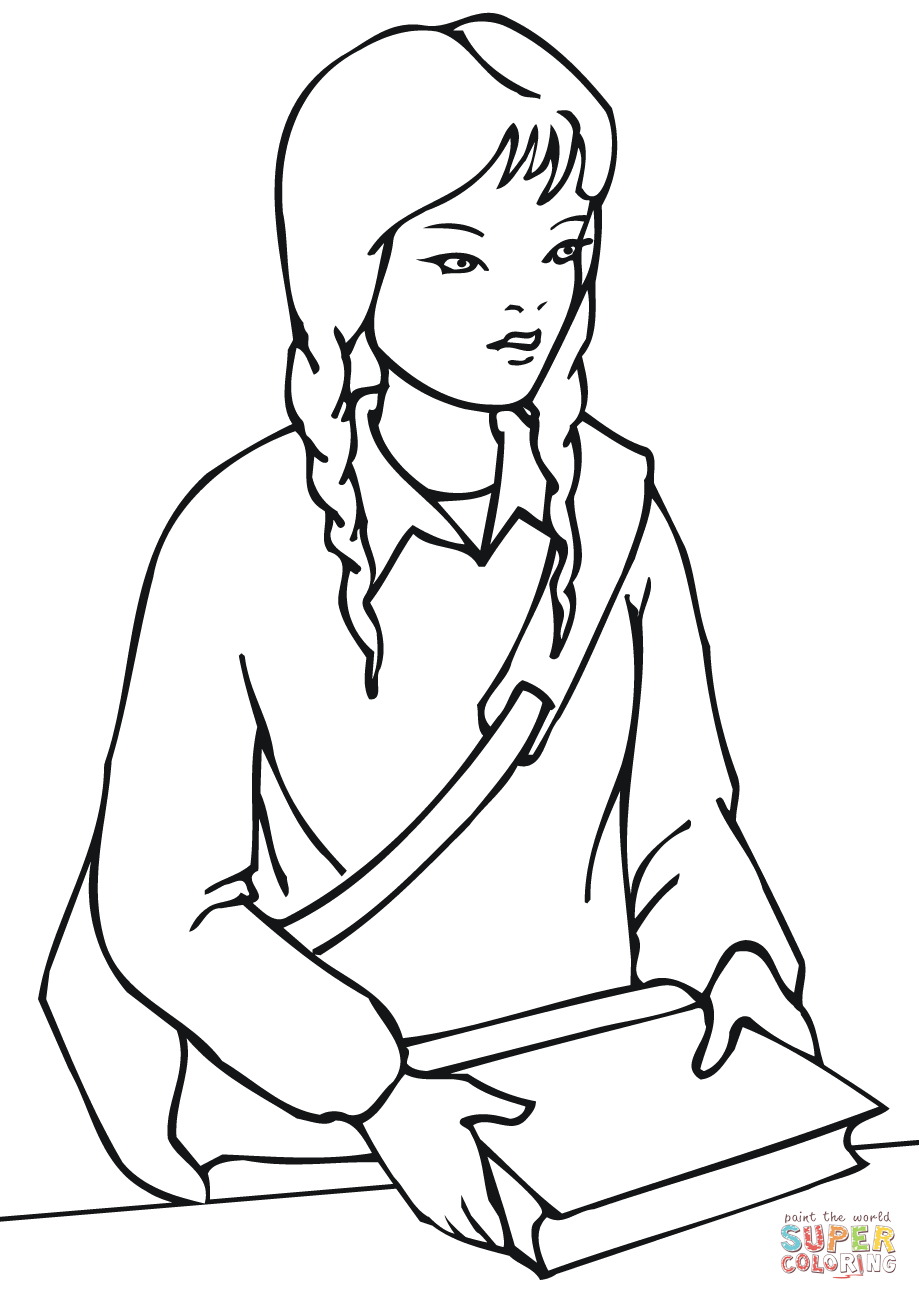 school girl coloring pages back to school girl free printable coloring pages coloring school pages girl